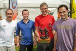 Martin Stone, Dave Suddes (Lowe Alpine) and the Elite winners Duncan Archer and Jim Mann