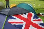 The tent of a patriotic, banana-loving team