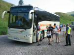 Competitors boarding a coach to take them up to the Bridge of Orchy start