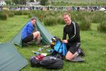 Vicki Maynard and Colin Kirkman packing up at mid camp prior before heading off on the B course