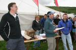 Tony Waterhouse of the Scottish Agricultural College (whose land was used for the event centre), Martin Stone and Dave Suddes of Lowe Alpine presented the prizes