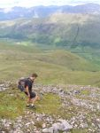 Tony Mate making his way down off Beinn Eunaich